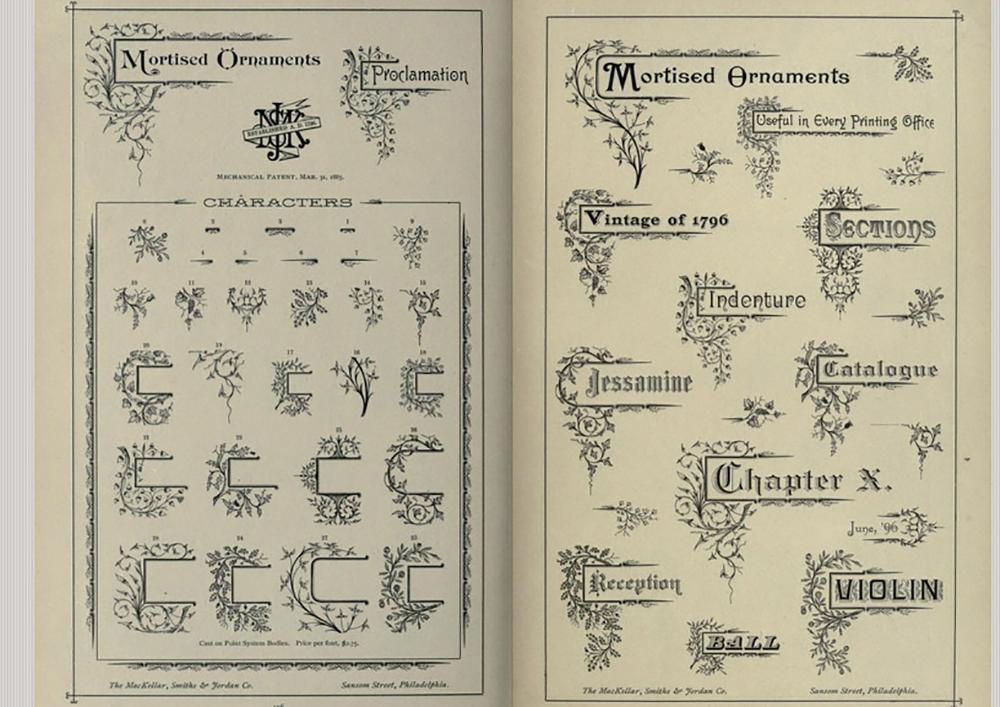 Nyomdai, tervezői segédeszköz, kiadvány 1892-ből. - 3 Mangó