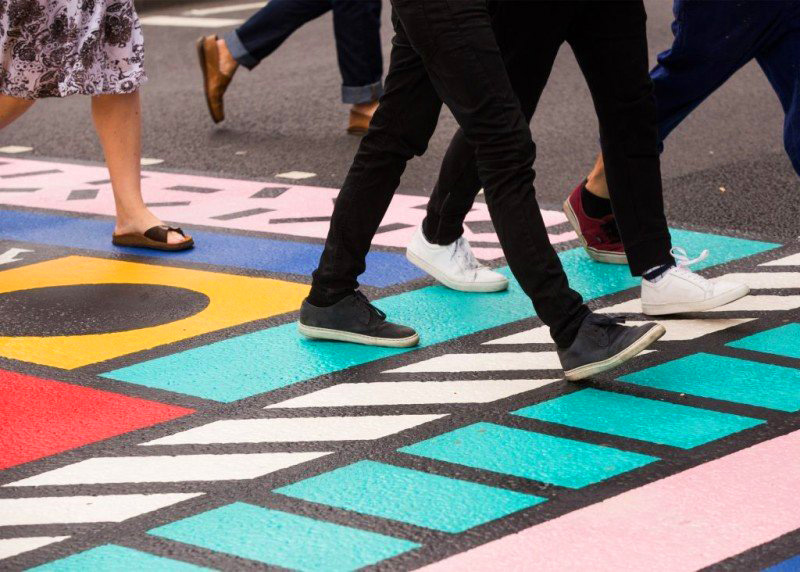 Újraértelmezett gyalogátkelők Londonban
