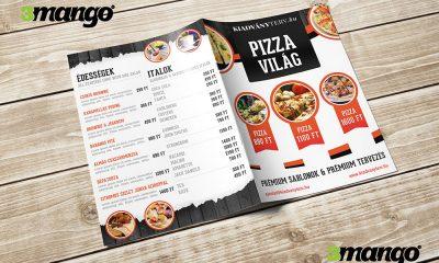 Étlap, itallap, vendéglátóknak, hamburgerezőknek, pizzázóknak - Kiadványszerkesztés - 3 Mangó