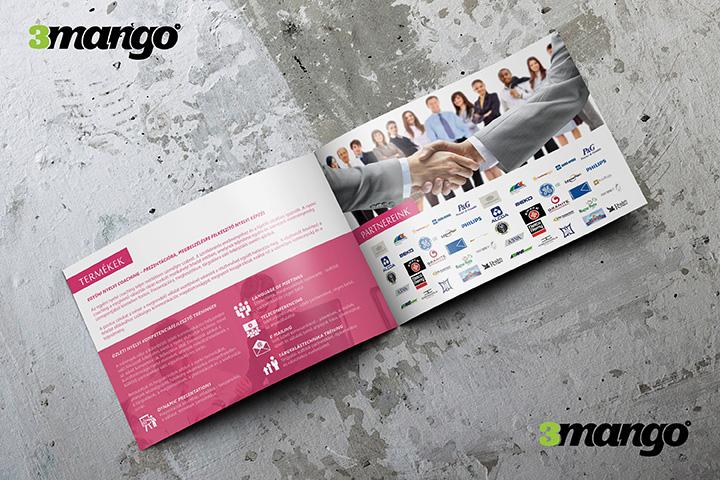 Vállalati nyelvoktatást szolgáltató cég felkérésére készítettünk egy 8 oldal terjedelmű brosúrát. - Kiadványszerkesztés - 3 Mangó