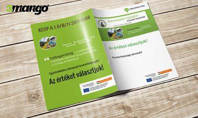 Új Széchenyi Terv pályázati arculat alapján készített kiadvány grafikai tervezése - 3 Mangó