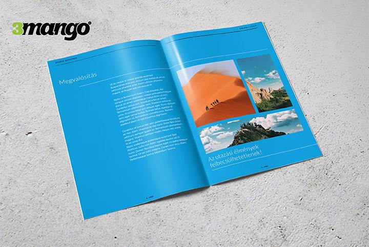 Utazási irodák számára képes, letisztult, infomatív termékkatalógus - Kiadványszerkesztés - 3 Mangó