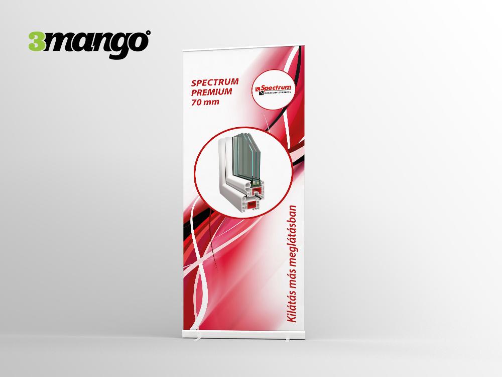 Kiállításra tervezett arculati anyagok, katalógus, gyűrűsmappa, molinó és stand dizájn - 3 Mangó