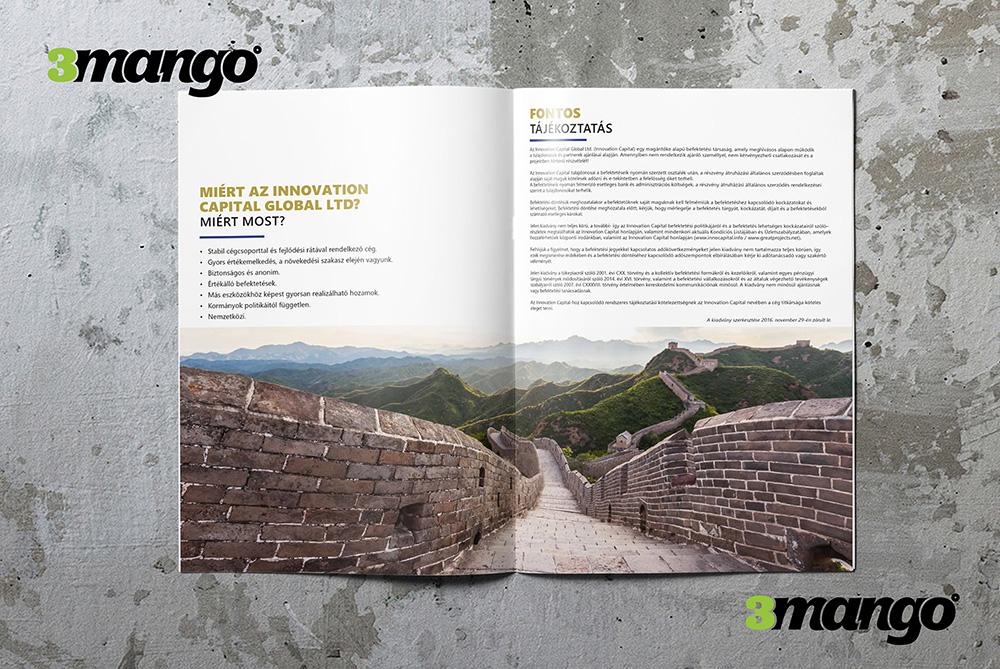 Céges brosúra kiadványszerkesztése kínai és magyar nyelven - 3 Mangó