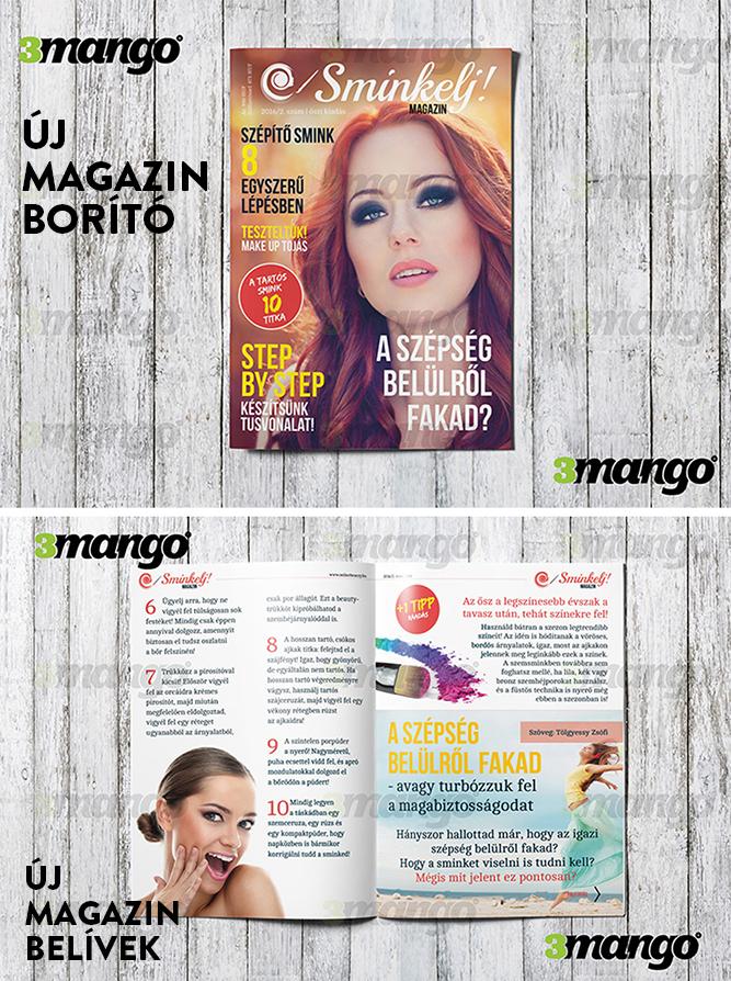Magazin borító és belívek kiadványszerkesztése és grafikai tervezése ... 92290f0692