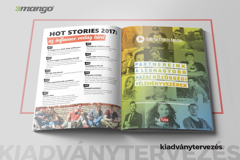 Influencer Magazin – kiadványtervezés - 3 Mangó